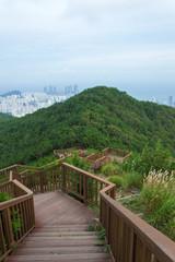 Panoramic view of Busan in South Korea, Jang San - Stock image