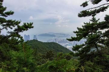 Panoramic view of Busan in South Korea, Jang San