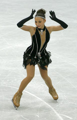 Georgia's Gedevanishvili performs during the women's short programme at the World Figure Skating Championships in Gothenburg