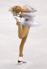 Dytrt of Germany performs during the Ladies Free Skating portion of the 2009 ISU World Figure Skating Championships in Los Angeles