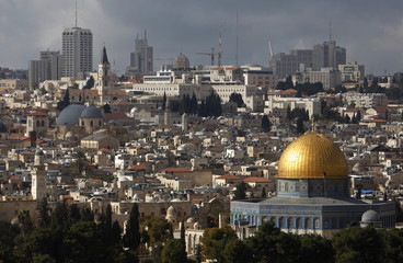 A view of the Dome of the Rock in Jerusalem's Old City