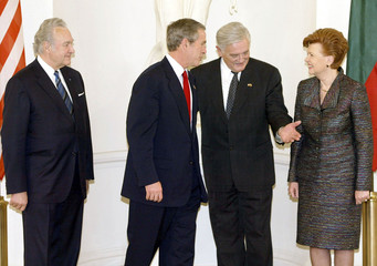 US PRESIDENT GEORGE W BUSH AND BALTIC LEADERS.