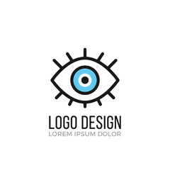 Eye logo design concept. Eye icon. Vector logo