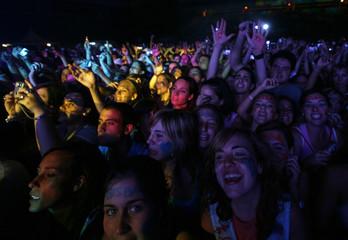 Fans attend Spanish singer David Bisbal's concert in Seville