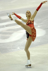 Switzerland's Sarah Meier competes in the women's short programme at the Swiss Figure Skating Championships in Geneva