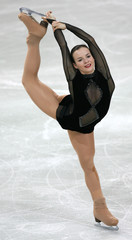 Poland's Jurkiewicz performs during the women's Short Programme of the European Figure Skating Championships in Warsaw
