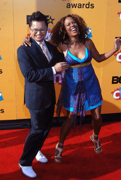 Actor Alec Mapa and actress Rachel Truearrives aarrive for the BET Comedy Awards Awards in Pasadena