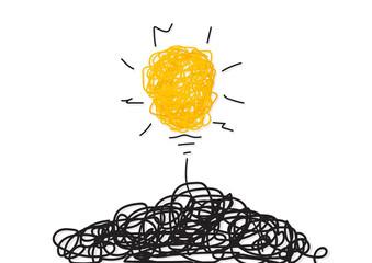 Creative idea.Concept of idea and innovation. Vector Illustration