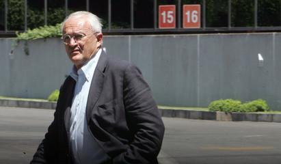 Italian football official, Bergamo, leaves Olympic stadium in Rome