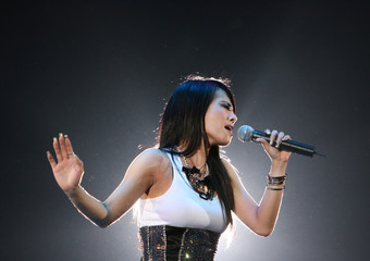 Taiwan singer Tsai performs during a charity concert in Singapore
