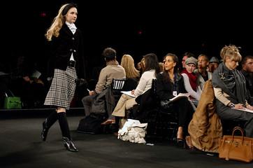 Model walks runway during Charles Nolan Fall 2006 fashion show during New York Fashion Week