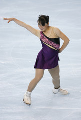 Japan's skater Aki Sawada performs during the Ladies Short Program event in the Bompard Trophy event at Bercy