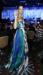 Rihanna waves at the 2009 Grammy Salute to Industry Icons event, honoring Clive Davis in Beverly Hills