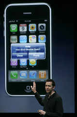 Scott Forstall discusses Apple Inc iPhone 3.0 OS software and applications in Cupertino