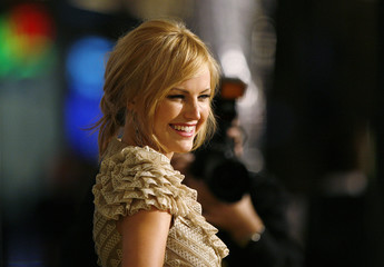 Malin Akerman attends the premiere of the movie Watchmen at the Grauman's Chinese theatre in Hollywood
