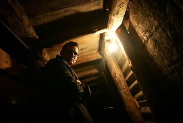 Edis Kolar stands in famous Sarajevo tunnel
