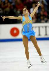 MICHELLE KWAN OF THE US WINS THE LADIES FREE SKATE AT WORLDCHAMPIONSHIPS.