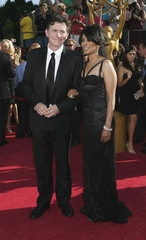 Actor Byrne poses with his girlfriend George at 60th annual Primetime Emmy Awards in Los Angeles