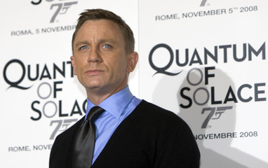 British actor Craig pose during his photocall for the Italian premiere of the latest James Bond movie 'Quantum of Solace' in Rome