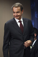 Spain's Prime Minister Jose Luis Rodriguez Zapatero arrives to speak to the media during the 64th United Nations General Assembly in New York