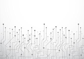Digital technology world. Business virtual concept connection. Vector Illustration