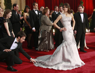 "Marisa Tomei, best supporting actress nominee for ""The Wrestler,"" arrives at 81st Academy Awards in Hollywood"