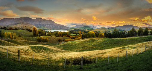 Sunset in the Hills of Arrowtown