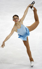 Italy's Rio performs during the women's free program at the European Figure Skating Championships in Helsinki