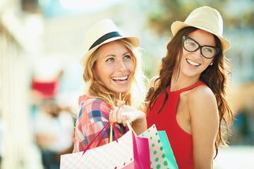 Beautiful Young Woman Enjoying Shopping