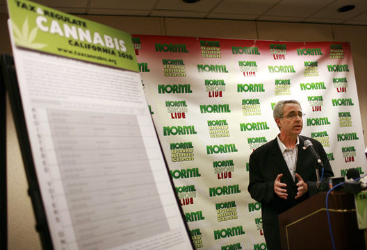 NORML President speaks duringa  kickoff campaign in support of Regulate, Control and Tax Cannabis Act of 2010