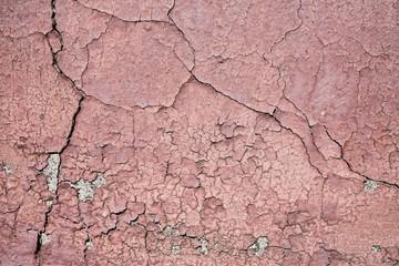 schadhafte Oberfläche der Fassade eines Hauses