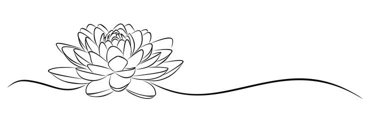 lotus Sketch.  Fototapete