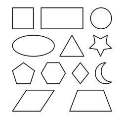 geometric shapes vector symbol icon design.