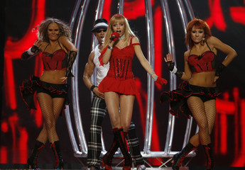 Polish group The Jet Set perform at the semi-finals of the Eurovision Song Contest in Helsinki