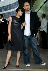 """Actress Selma Blair and husband Zappa attend premiere of """"Must Love Dogs"""", Hollywood."""