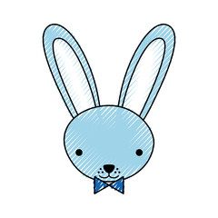 cute rabbit tender character vector illustration design