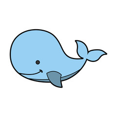 cute whale tender icon vector illustration design