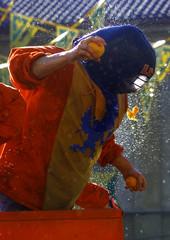 ITALIANS HOLD ORANGE BATTLE DURING CARNIVAL IN IVREA.