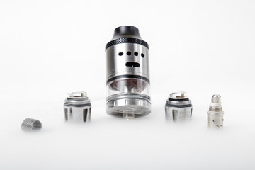 Electronic cigarette tank and coils with smoke