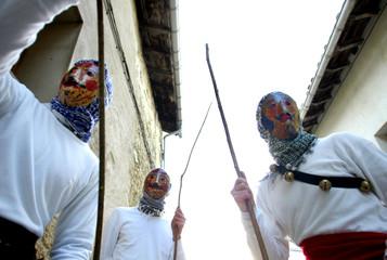 'Mamuxarres' take part in carnival celebrations in northern Spain.