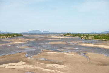 灘分橋から見た斐伊川と宍道湖