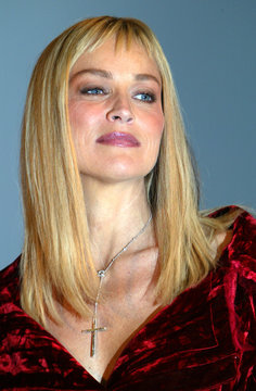 US actress Sharon Stone is seen during a press conference introducing her as the new face of Dior's anti-aging product line in Paris