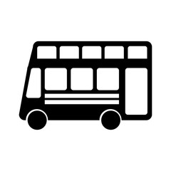london bus transport vehicle icon vector illustration design