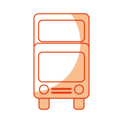 bus transport vehicle icon vector illustration design