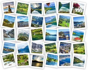 Norwegian landscapes and landmarks collage