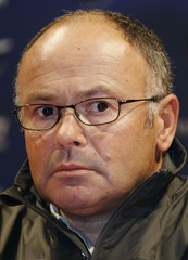 Skipper Pace of Team French Spirit team poses during a news conference for the Louis Vuitton Trophy in Nice