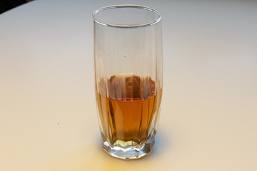 crystal glass of whisky isolated on a white background