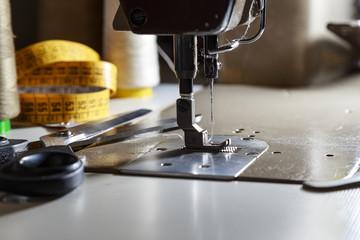 Particolare di una macchina da cucire