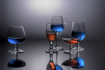 Wine Glasses Reflection