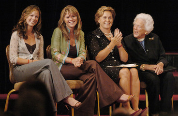 Bush women attend rally for president.